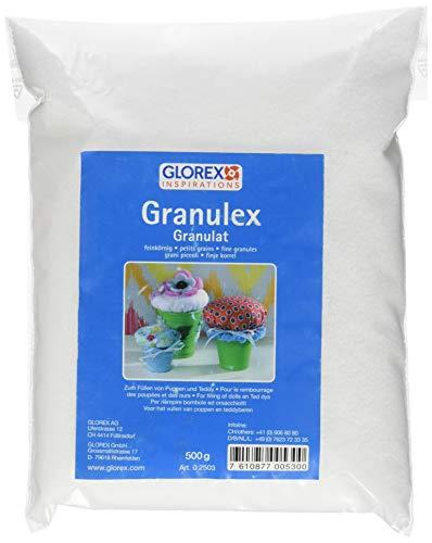Glorex Granulex fein 500g, Weiß, 14 x 14 x 5.5 cm, 16-Einheiten