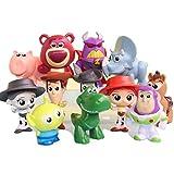 RICHAIR Disney Pixar Toy Story 3 Figurine Woody Jouet 12 pc/Paquet 3-6cm Figurine 3 Ans Jouet d'enfant