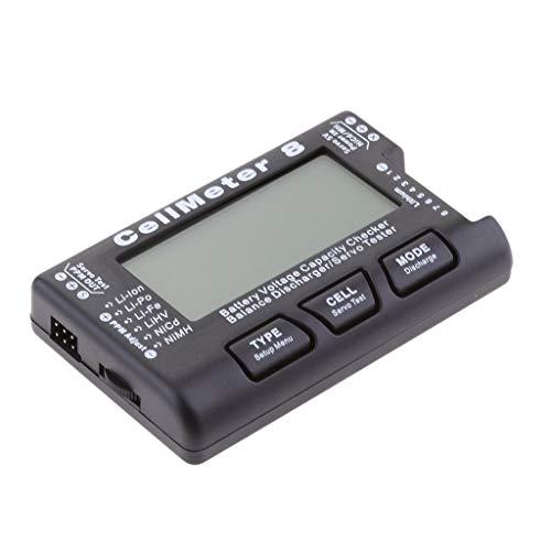 zmigrapddn CellMeter 8 2-8S Display LCD Indicatore del Tester della capacità della Batteria Checker Balance Scaricatore/Servo Tester, Accessori di Ricambio RC
