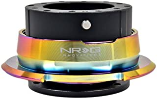NRG Steering Wheel Quick Release Gen 2.5 (Black with Diamond Cut Neochrome Ring) (Part: SRK-280BK-MC) FREE Standard Shipping