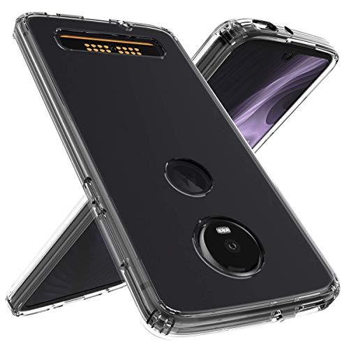 Funda Protector Case Acrílico Transparente. Para Moto Z4 Play. Incluye Cristal Templado Plano. Diseño…