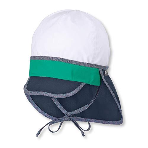 Sterntaler Schirmmütze für Jungen mit Bindebändern und Nackenschutz, Alter: 18-24 Monate, Größe: 51, Blau (Marine)