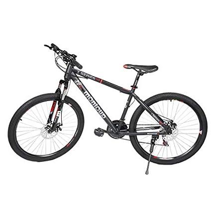 Dengc Bicicleta de montaña Plegable de 26 Pulgadas Bicicleta Plegable de 7 velocidades Negro MTB Sport/Negro