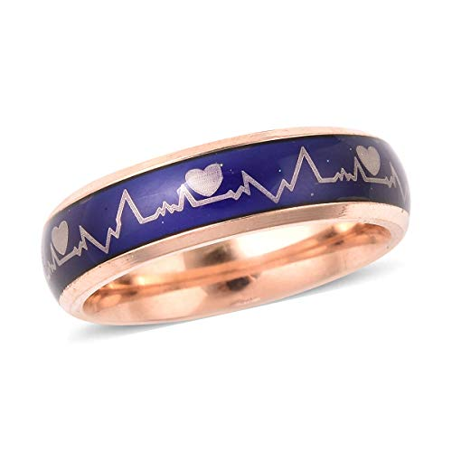 TJC Heartbeats Band Ring for Women Size T Gift for Wife/Girlfriend with