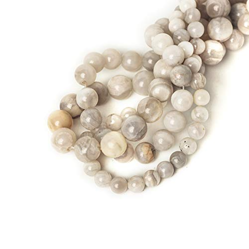 6mm White Crazy Lace Agates Round Loose Beads for Jewelry Making