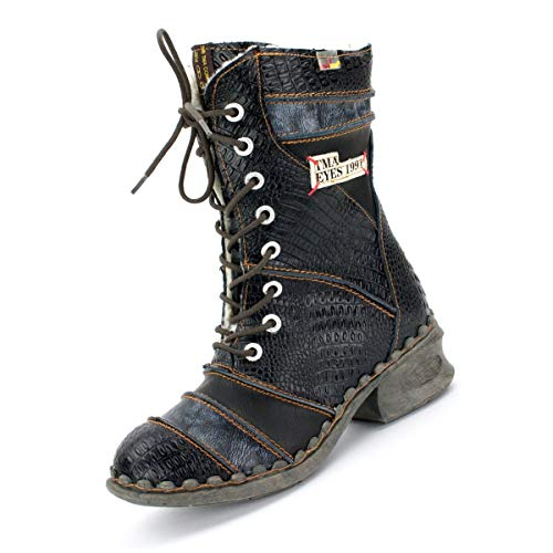 TMA Damen Winter-Stiefel 5199 Perlschwarz 39