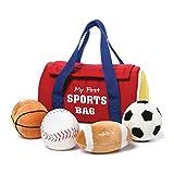 GUND Baby My First Sports Bag Stuffed Plush Playset, 5 Piece, 8'