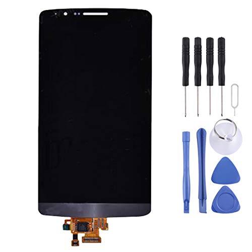 HMG Pantalla LCD y Conjunto Completo de digitalizador for LG G3 / D850 / D851 / D855 (Dorado) (Color : Black)