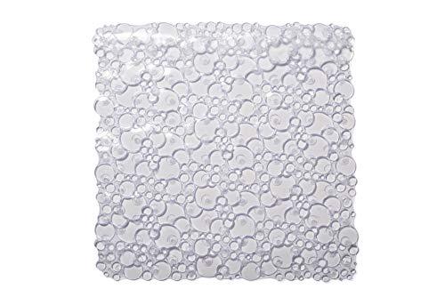 Croydex - Cesto portaoggetti da doccia, in acciaio dolce cromato, con gancio, anti ruggine, plastica, Chiaro, Shower Mat