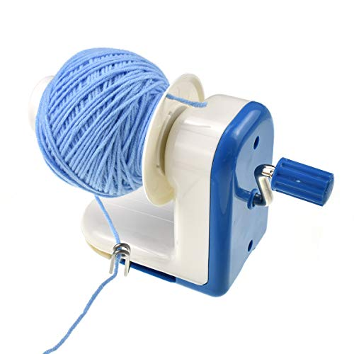 Looen Yarn Winder Yarn Ball Cakes String Winder Set for Crochet Knitting Project-Hand-Operated Winding Machine-Sturdy with Metal Handle and Tabletop Clamp