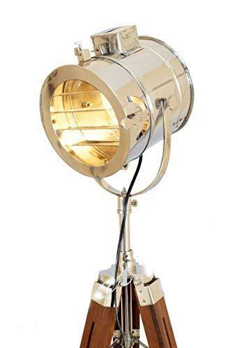 Lámpara de piso marina de la vendimia, luz de búsqueda del trípode de la luz del estudio del proyector náutico