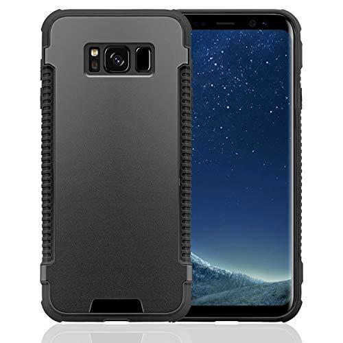 N NEWTOP Cover Compatibile per Samsung Galaxy S8 Plus, Custodia MOTOMO Grip TPU Alluminio Resistente Flessibile Case Posteriore Protettiva (Nero)