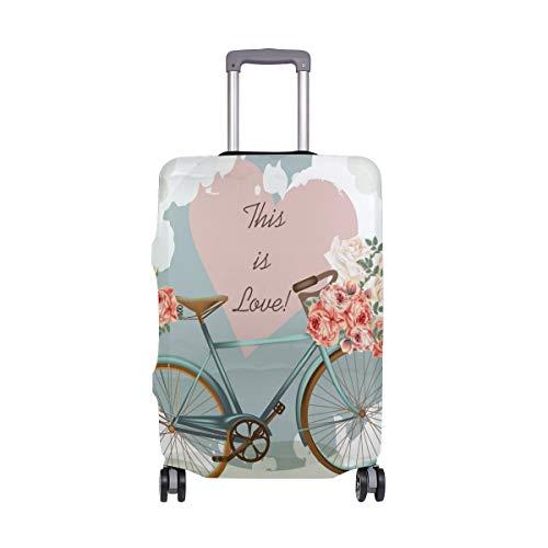 ALINLO Vintage Bicicleta Floral Love Equipaje Funda Baggage Maleta de Viaje Protector...