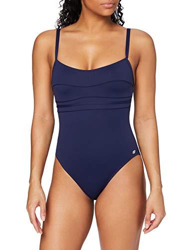 Haute pression A1001 - Maillot de bain une pièce - Uni - Femme - Bleu,FR: 46 (Taille faricant: 46)