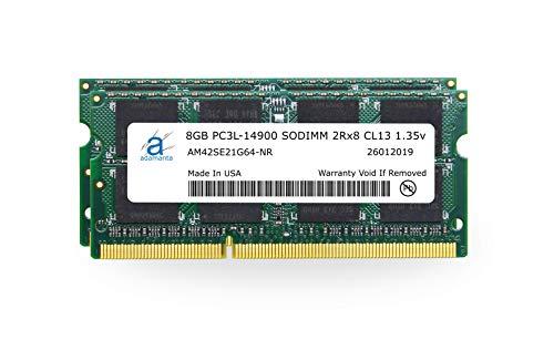 Adamanta 16GB (2x8GB) Apple Memory Upgrade Compatible with Late 2015 iMac 27' Retina 5K Display DDR3/DDR3L 1867Mhz PC3L-14900 SODIMM 2Rx8 CL13 1.35v RAM DRAM