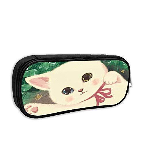 IOPLK Fashion School Bleistiftetui, Lucky Cat Pen Bag Büro Schreibwaren Tasche für Schule & Bürobedarf