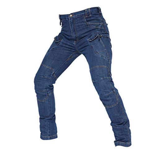 Andiwa Pantalones vaqueros tácticos para hombre, pantalones cargo del dril de algodón del trabajo, estiramiento EDC al aire libre Caminar Combat Ripstop