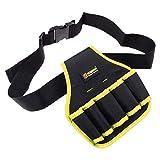 Mkulxina Multikinetische Werkzeugtasche Canvas-Tasche 5-Loch-Kit for einfachen Zugriff (Color : Yellow) -
