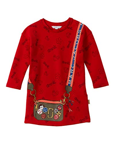 Little Marc Jacobs Kleid Comics rot, A-Linie, Rot 10 Jahre
