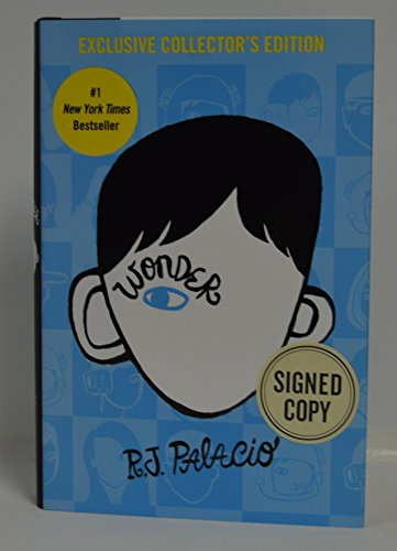 R.J. PALACIO signed 'WONDER' Hardcover Book FIRST EDITION (Exclusive Collector's Edition)