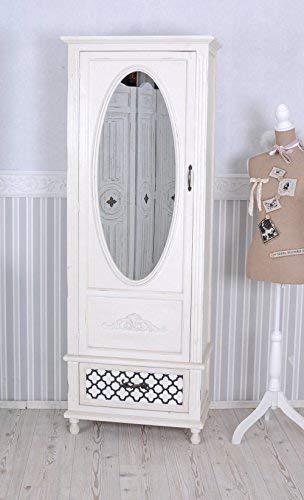 Vintage Schrank Shabby Chic Kleiderschrank Weiss Wäscheschrank Spiegel mxa014 Palazzo Exclusiv