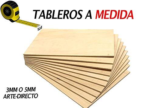 Exact passende multiplex plaat | Massief hout berk voor knutselwerk | Ideaal voor brandschilderen, lasergesneden, bestel de gewenste maat 100 x 100 cm in 3 mm en 5 mm
