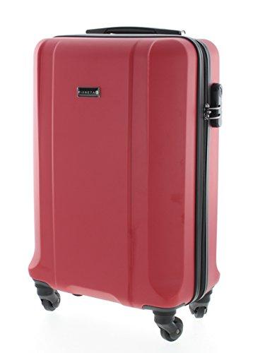 Boston Trolley maleta de viaje rígida, Material de 100% ABS, 4 ruedas (multicolor)