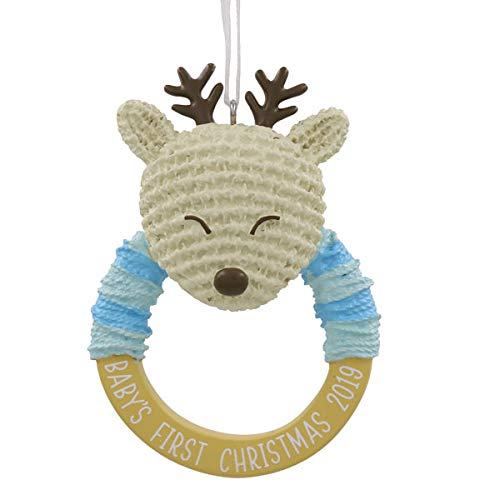 HMK Hallmark Baby Boy's First Christmas Dated 2019 Tree Trimmer Ornament