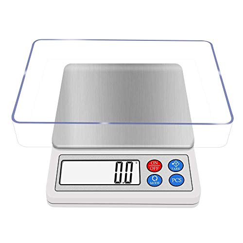 Digital Kitchen Scale 3000g x 0.1g NEXT-SHINE High-precision Pocket Gram Scale Muti-functional Pro Scale with Back-lit LCD Display Tare PCS for Cooking and Baking