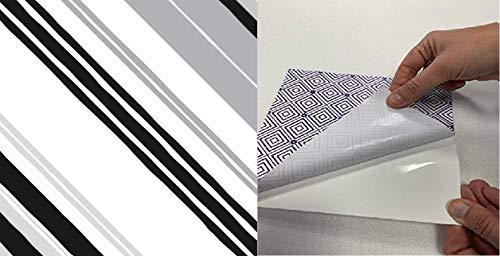 M.Service S.r.l. Le MattoBelle – Azulejos adhesivos 20 x 20 cm – Pieza individual – Precio individual de baldosa adhesiva – PVC de alta calidad y reutilizable (rayas D4)