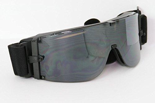 Lunettes de moto lentilles réfléchissant monture de lunettes noir SBR caoutchouc