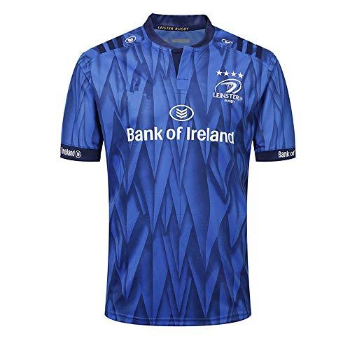 HBRE Rugby-Trikot, Leinster FußBall,Heimtrikot des Athleten, Baumwoll-Jersey-T-Shirt 2019, Freizeit-T-Shirt-Bekleidung, Bedrucktes Oberteil,Blue,L