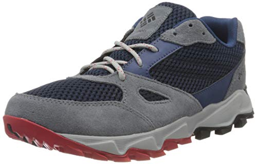 Columbia Herren IVO Trail Breeze Freizeitschuhe, Marineblau, Hellrot (Collegiate Navy, Bright Red), 47 EU, 1898041