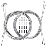 4PCS Bike Brake Cable Shifter Cable, Bicycle Gear Cable Wire for Mountain Bike, Bike Brake Wire Set for Road Bike, Including 18 PCS Complete Inner Replacement Set