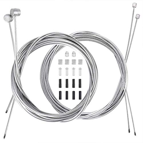 4PCS Bike Brake Cable Shifter Cable, Bicycle Gear Cable Wire for Mountain...