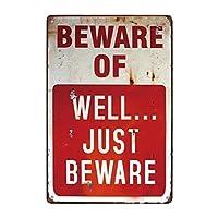 メタルティンサインカワセミはよく注意してくださいバーパブホームヴィンテージレトロ-20x30cm