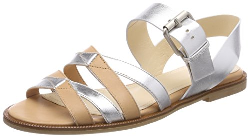 Jil Sander Seasonal, Sandales Bride Arriere Femme, Multicolore (Apricot Silver 378), 39 EU