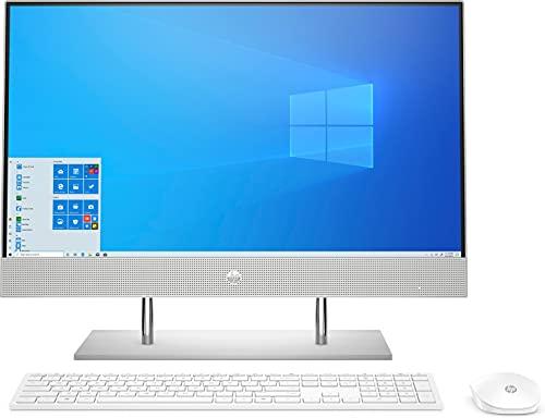 "HP All-in-One 24-dp0015ns – Computer da tavolo da 23,8"" FHD (Touch Screen, Intel Core i5-10400T, 8 GB DDR4-SDRAM, 512 GB SSD, Windows 10 Home) Argento Naturale – Tastiera QWERTY spagnola e mouse"