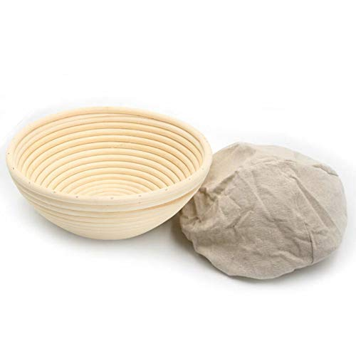 MQH Cesto de Ropa Sucia 1 unids Redondo/óvalado/Triangular de ratán fermentado Masa de Pan de Masa de Masa con paño para Hornear Cesta de Almacenamiento de Pan para Colada (Color : 22X8cm)