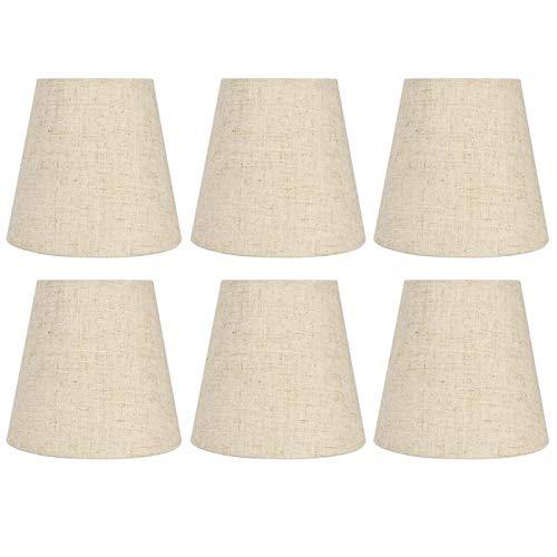 Hoseten Pantalla de lámpara, Buena transmitancia de luz Resistencia al Desgaste Pantalla de Tela Materiales de PVC Fácil de Instalar para Estudio para Sala de Estar