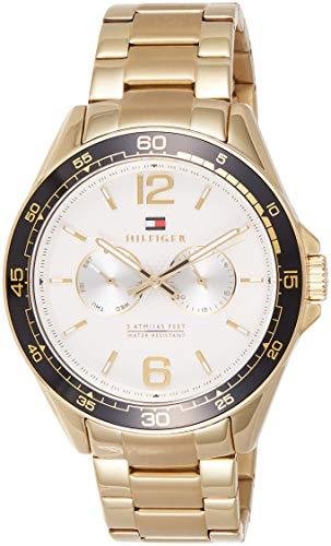 Tommy Hilfiger Reloj de hombre cuarzo correa y caja de acero dorado 1791365