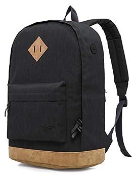 HotStyle 936Plus Classic Backpack Casual Daypack Stylish Bookbag Black