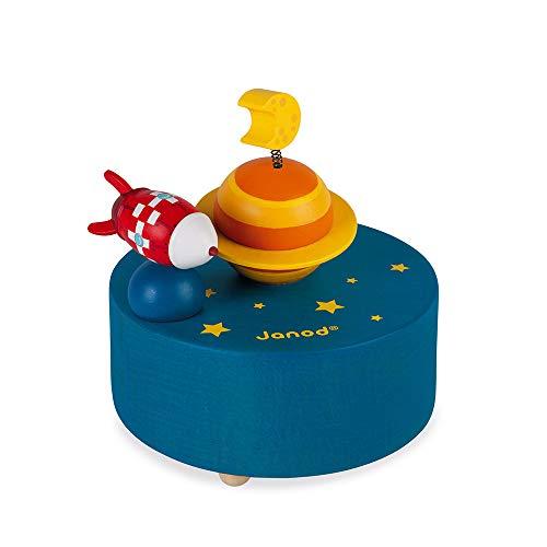 Janod Caja de música de madera Galaxy - Decoración de cuarto infantil - A partir de 3años