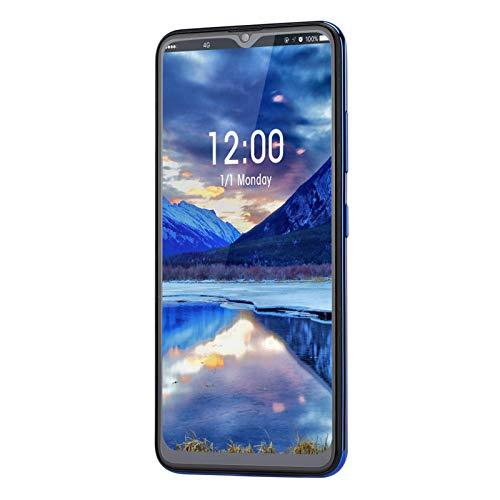 Art mirror MIQOO M80 Blue Metal Fingerprint Face Unlock 6,7-Zoll-Drop-Screen-Dual-Karten Dual-Standby-Smartphone, 6 + 64G 100-240 V.