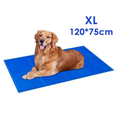 PEDY Tappetino Rinfrescante per Cani e Gatti, 120 x 75cm Tappetino Refrigerante, Gel Non Tossico, Auto Raffreddamento,Impermeabile e Resistente, Regolazione della Temperatura per in Estate