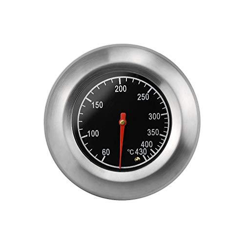 SANTOO BBQ Grillthermometer Edelstahl Zeigerthermometer mit Tauchhülse Bimetall Backofen Thermometer für Grillen Barbecue Holzbackofen Ofen Analog Bimetall Sonde