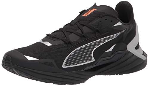 PUMA mens Ultraride Running Shoe, Puma Black-metallic Silver, 12 US