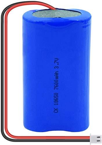 Batería Recargable DeIones De Litio3.7V 7600Mah 18650con Batería De Repuesto De Iones De Litio con Enchufe Xh 1Pcs-1Pcs