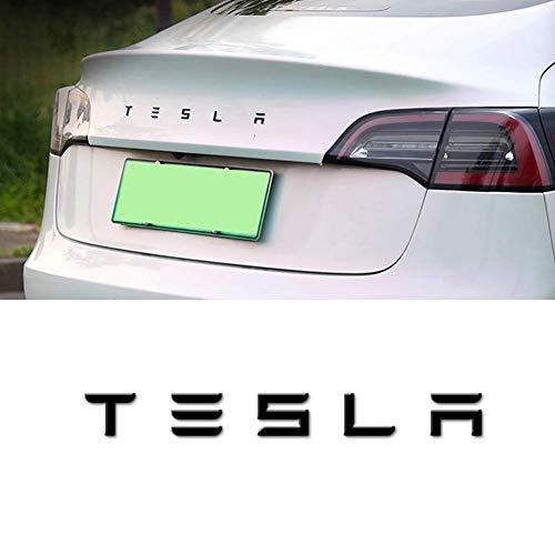3D-Metall Auto-Hintere Endstück-Trunk-Emblem-Aufkleber-Abzeichen-Abziehbilder Unterstütztes Tesla Model S Modell 3 Modell X,Schwarz