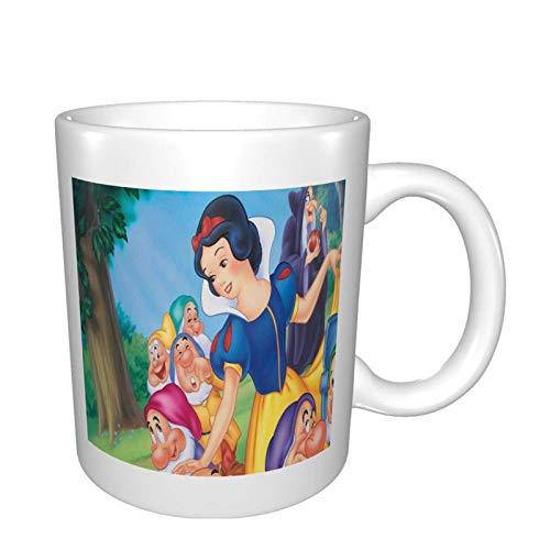 Blancanieves y los siete enanos de cerámica taza de café, té premium taza de porcelana con la manija, Taza de café grande para el hogar y la oficina, fácil de lavar, para hombre mujer hombres mamá pap